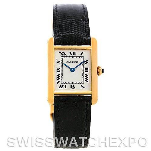 6029 Cartier Tank Classic Ladies 18k Yellow Gold Watch SwissWatchExpo