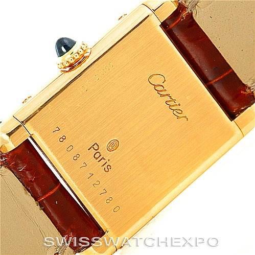 6264 Cartier Tank Classic Paris Ladies 18k Yellow Gold Watch SwissWatchExpo