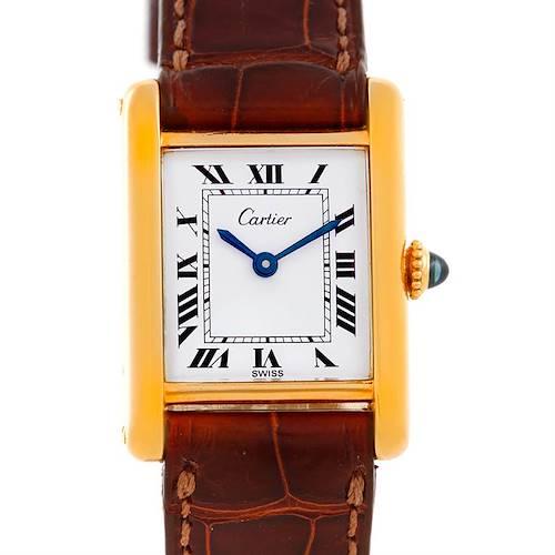 Photo of Cartier Tank Classic Paris Ladies 18k Yellow Gold Watch