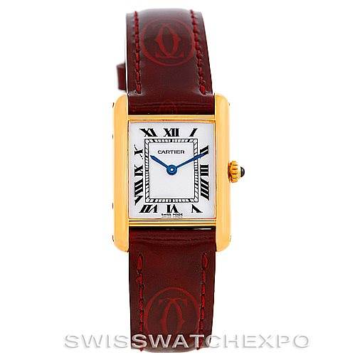 6405 Cartier Tank Classic Paris Ladies 18k Yellow Gold Watch SwissWatchExpo