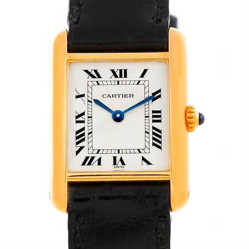 Photo of Cartier Tank Classic Ladies 18k Yellow Gold Quartz Watch