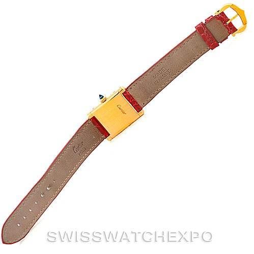 5160 Cartier Tank Classic Paris Ladies 18k Yellow Gold Watch SwissWatchExpo