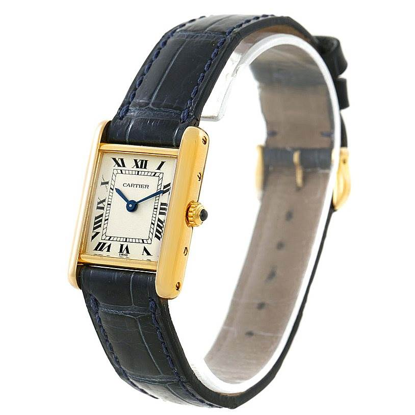 8032 Cartier Tank Classic Ladies 18k Yellow Gold Watch SwissWatchExpo
