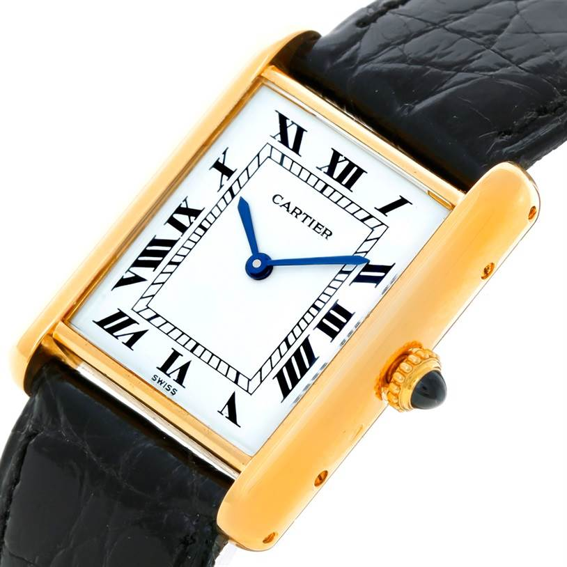 Cartier Tank Classic Paris 18k Yellow Gold Mechanical Watch SwissWatchExpo