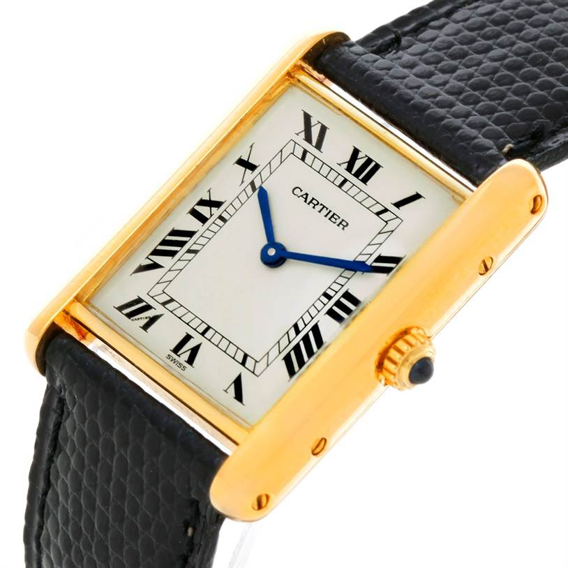 2855 Cartier Tank Classic 18K Yellow Gold Quartz Watch SwissWatchExpo