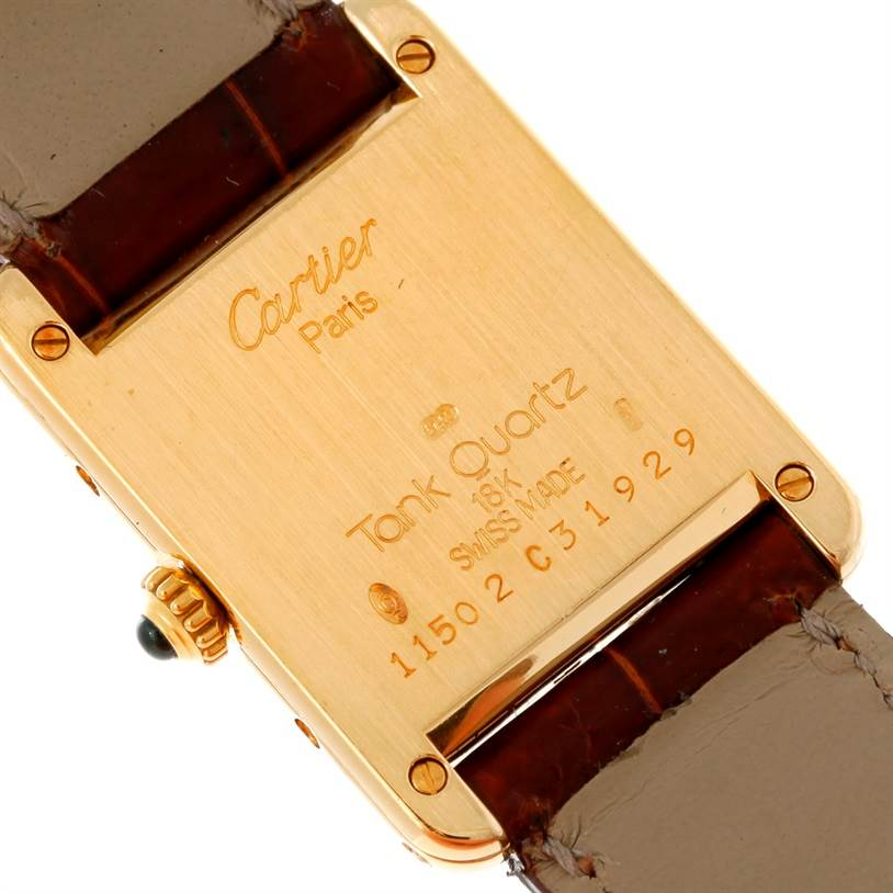 6840 Cartier Tank Classic Paris Ladies 18k Yellow Gold Watch SwissWatchExpo