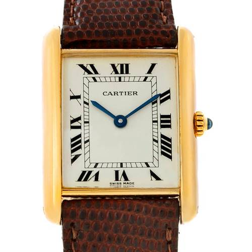 Photo of Cartier Tank Classic Paris Ladies 18k Yellow Gold Watch