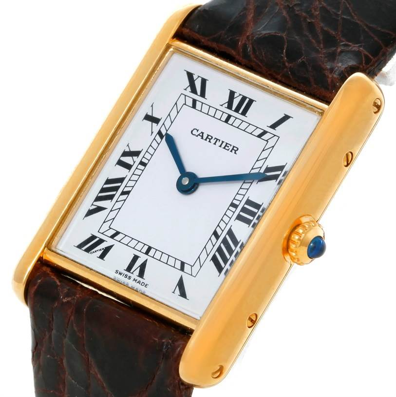 8738 Cartier Tank Classic Paris 18K Yellow Gold Quartz Watch SwissWatchExpo