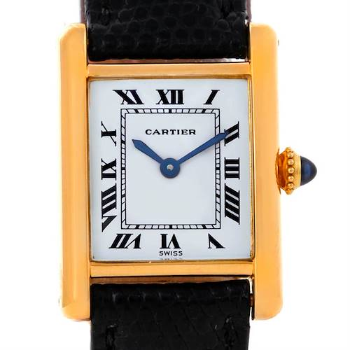 Photo of Cartier Tank Classic Paris Small 18k Yellow Gold Ladies Watch