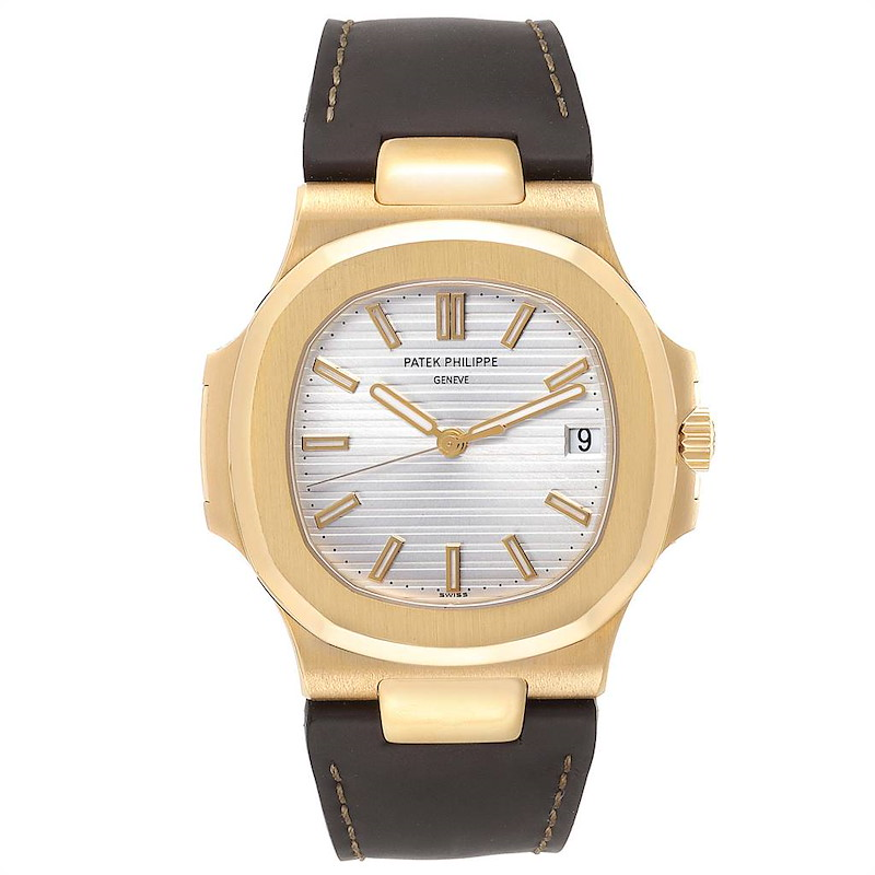 Patek Philippe Nautilus 18K Yellow Gold Brown Strap Mens Watch 5711 PARTIAL PAYMENT SwissWatchExpo