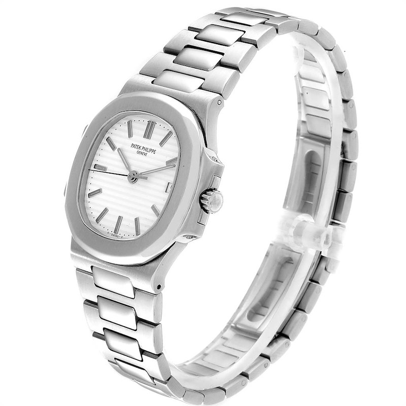 Patek Philippe Nautilus White Dial Automatic Steel Mens Watch 3800 SwissWatchExpo
