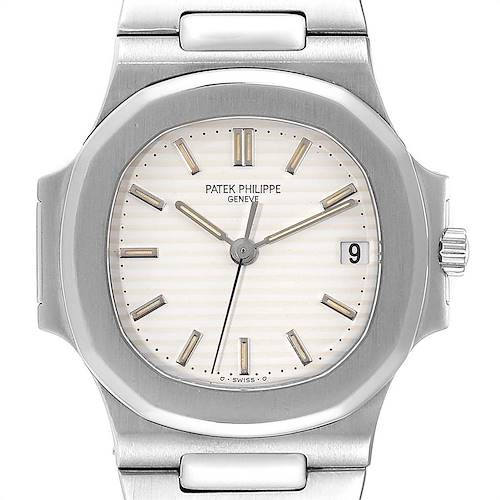 Photo of Patek Philippe Nautilus White Dial Automatic Steel Mens Watch 3800