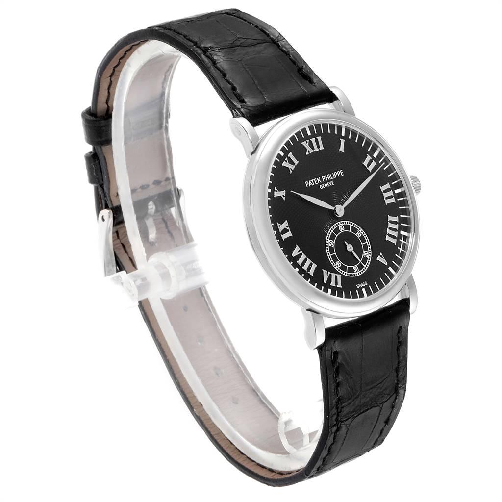 Patek Philippe Calatrava Officier White Gold Manual Wind Mens Watch 5022 SwissWatchExpo