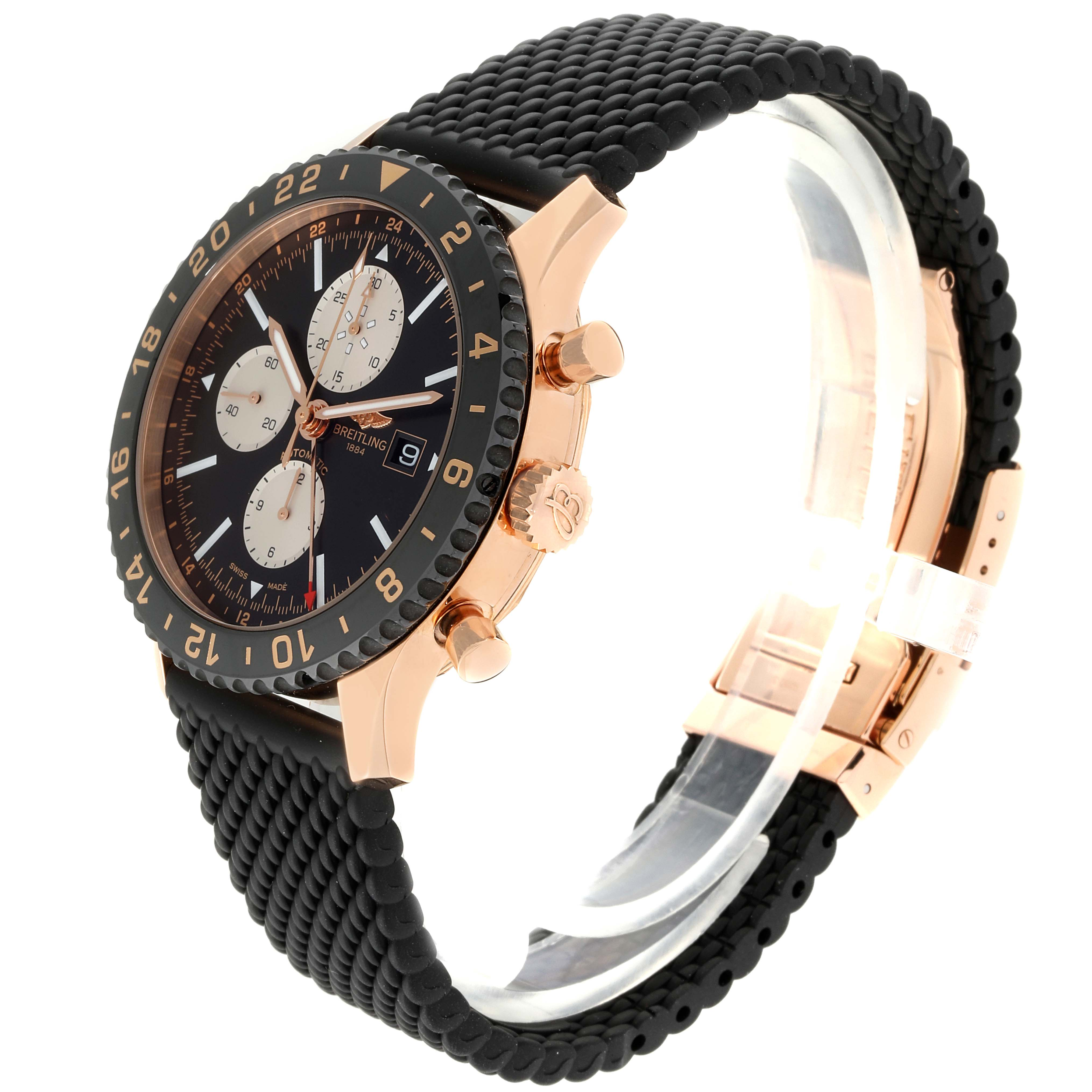 Breitling Chronoliner Limited Red Gold Mens Watch R24312 Box Papers SwissWatchExpo