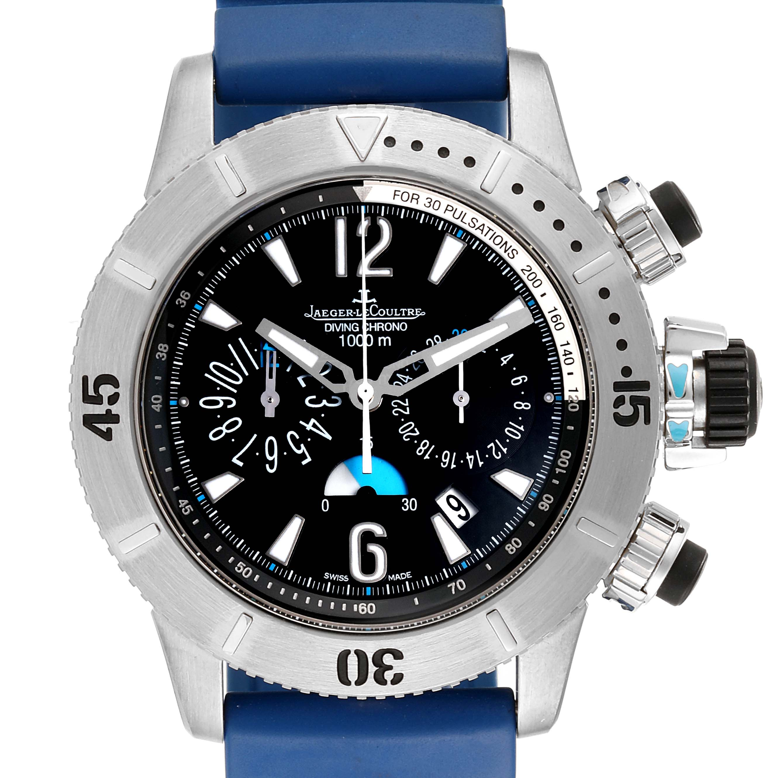 Jaeger Lecoultre Master Compressor Diving Chrono Titanium Watch 160.T.25