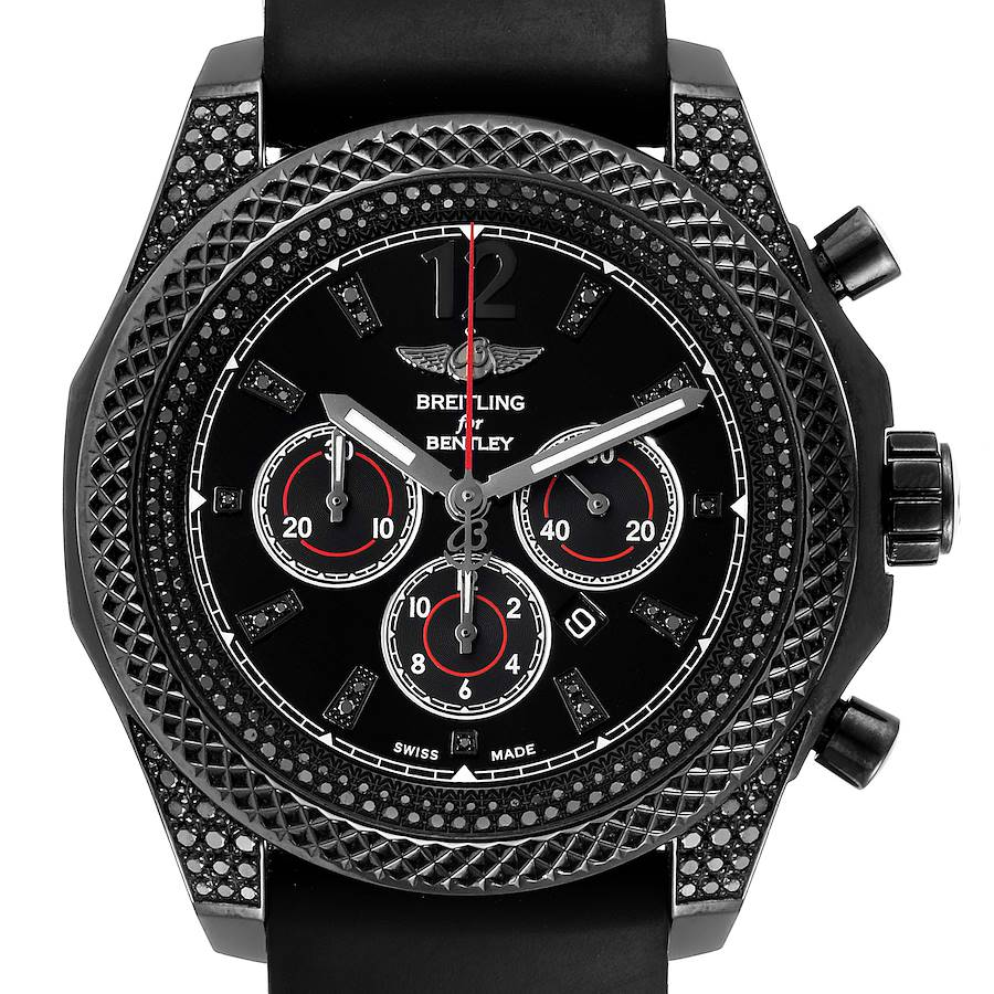 Breitling Bentley Barnato Black Dial Diamond Mens Watch M41390 Box Card SwissWatchExpo