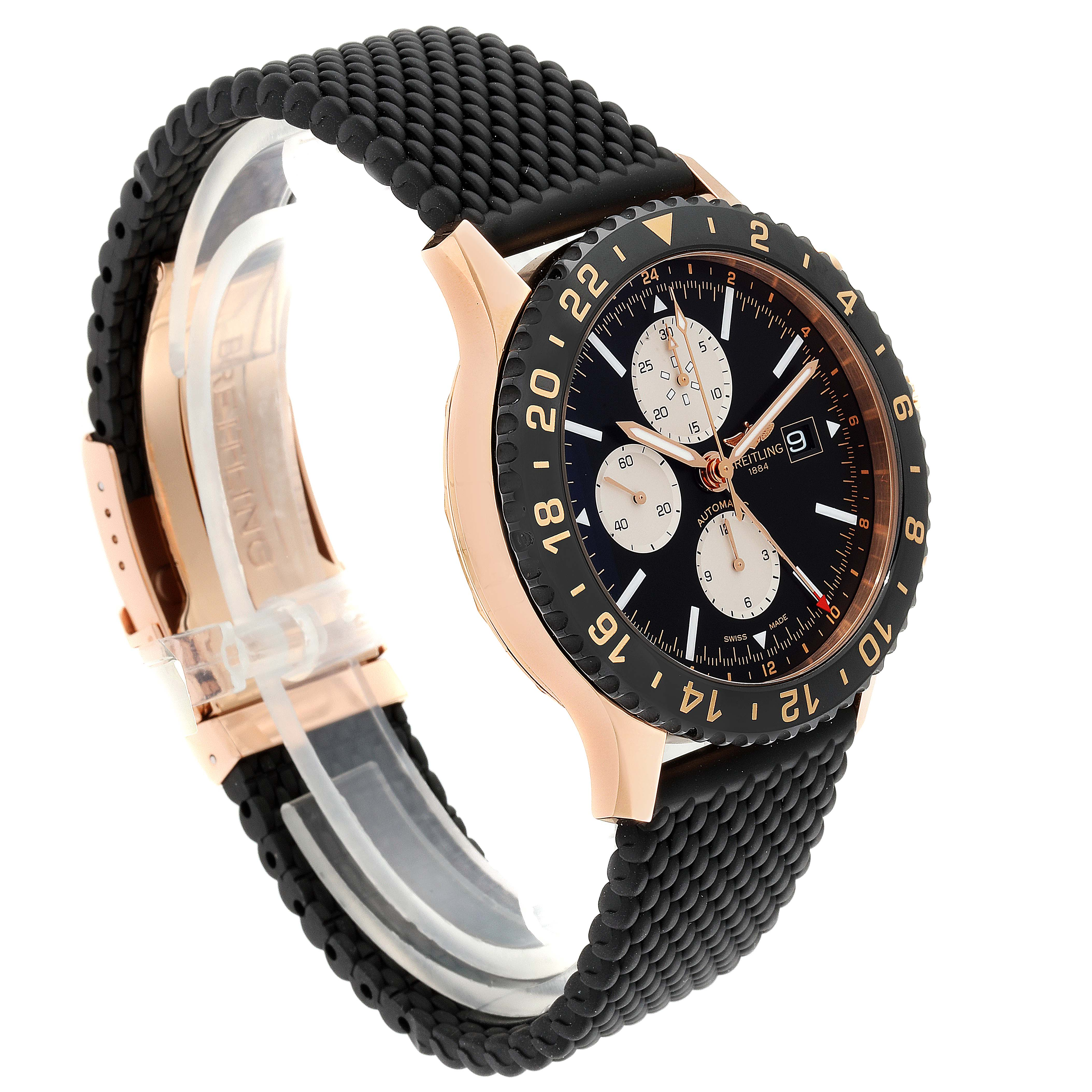 Breitling Chronoliner Limited Red Gold Mens Watch R24312 Unworn SwissWatchExpo