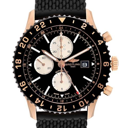 Photo of Breitling Chronoliner Limited Red Gold Mens Watch R24312 Unworn