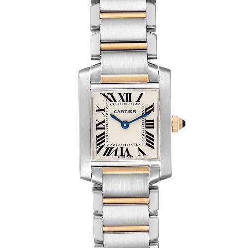 Photo of Cartier Tank Francaise 20mm Steel Yellow Gold Ladies Watch W51007Q4