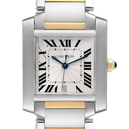 Photo of Cartier Tank Francaise Steel Yellow Gold Large Watch W51005Q4 Box Papers