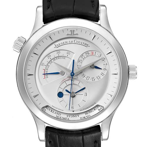Photo of Jaeger Lecoultre Master Geographic Watch 142.8.92.S Q1428420 Box Papers