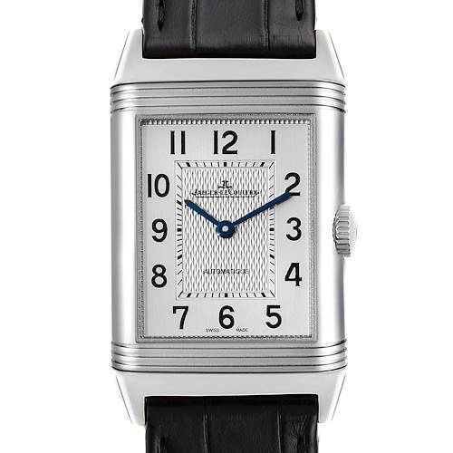 Photo of Jaeger LeCoultre Reverso Classic Silver Dial Mens Watch Q3828420 Box Papers