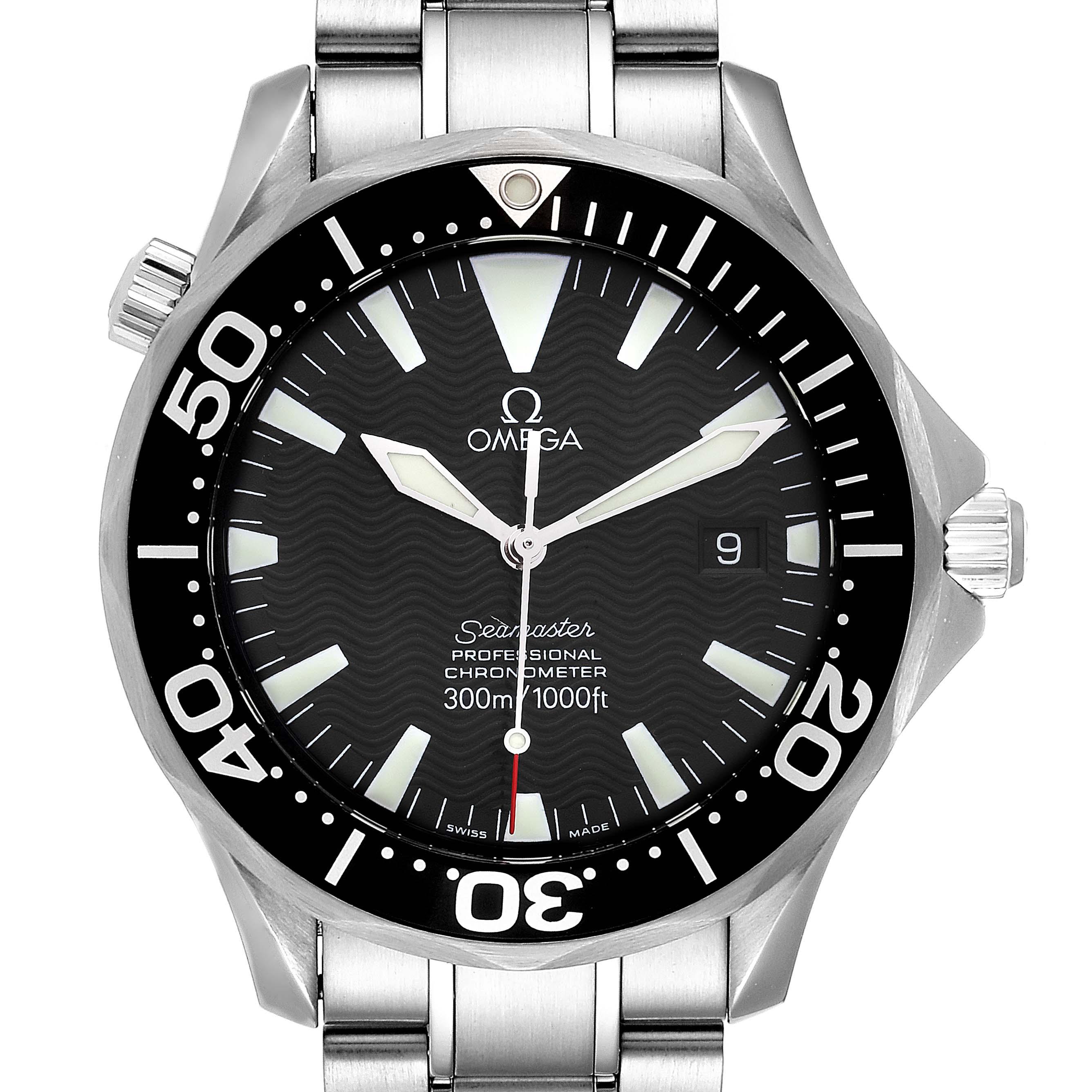 Omega Seamaster 41 300M Black Dial Mens Watch 2254.50.00 Card