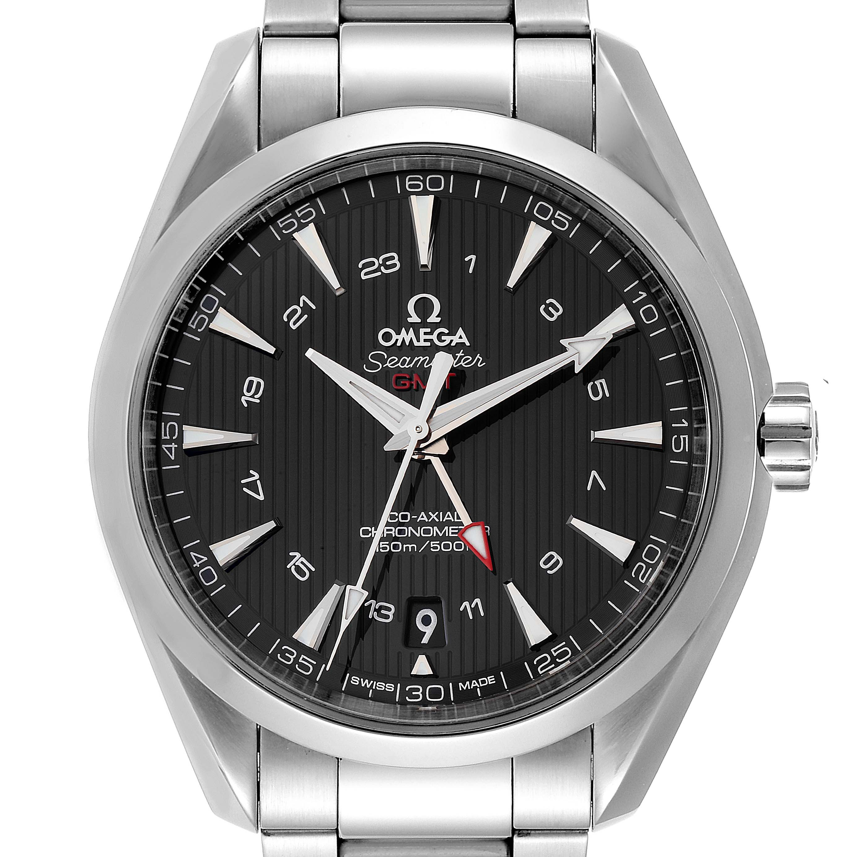 Omega Seamaster Aqua Terra GMT Co-Axial Watch 231.10.43.22.01.001 Box Card SwissWatchExpo