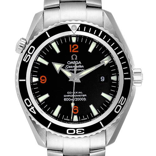 Photo of Omega Seamaster Planet Ocean XL Orange Numbers Mens Watch 2200.51.00