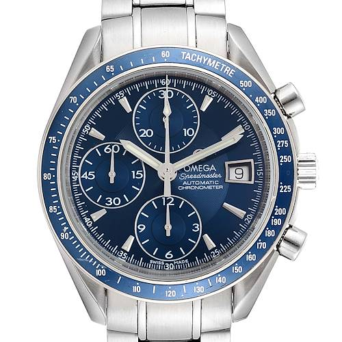 Photo of Omega Speedmaster Date Blue Dial Chrono Watch 3212.80.00 Card