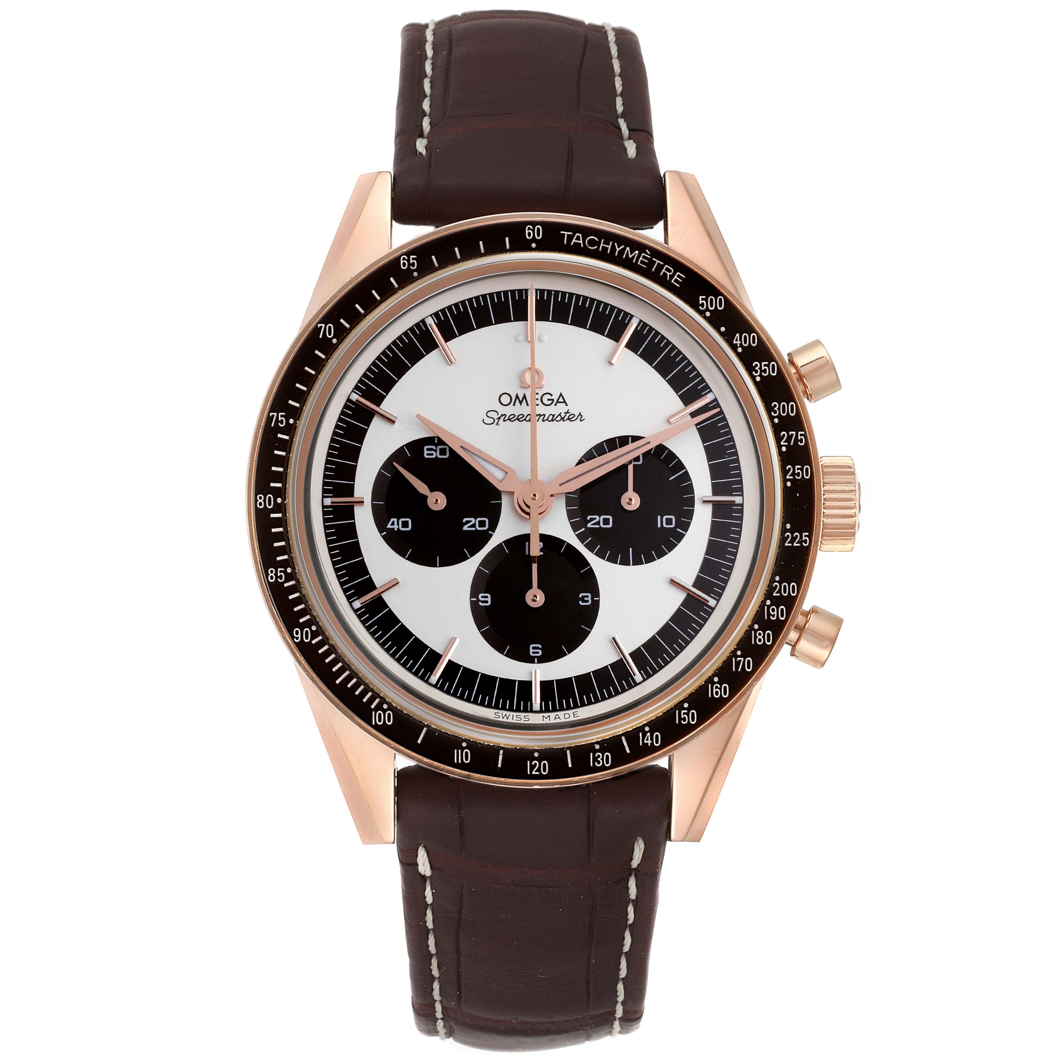 Omega Speedmaster First In Space Sedna Gold Watch 311.63.40.30.02.001 SwissWatchExpo