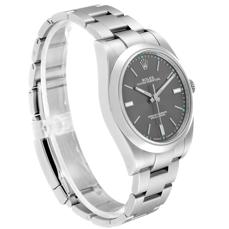 Rolex Oyster Perpetual 39 Slate Dial Steel Mens Watch 114300 Box Card SwissWatchExpo