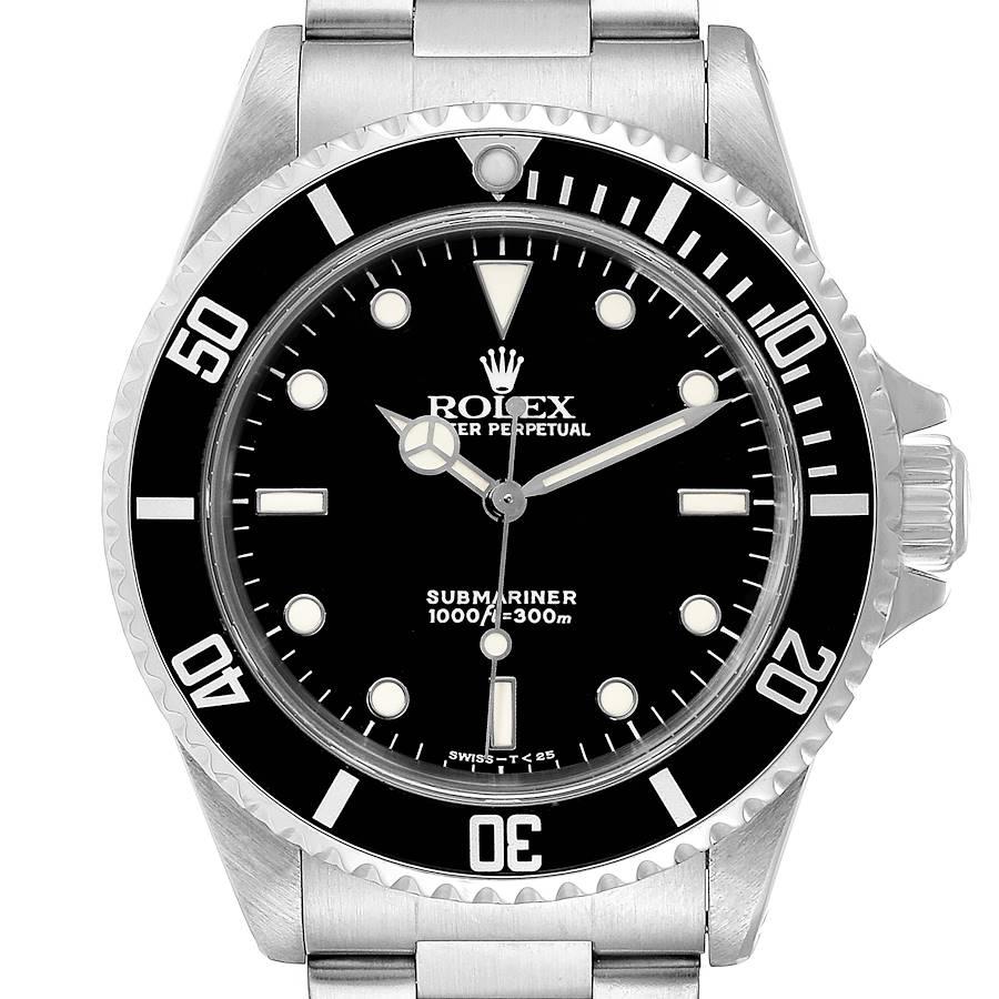 Rolex Submariner 40mm Non-Date 2 Liner Steel Mens Watch 14060 Box Papers SwissWatchExpo