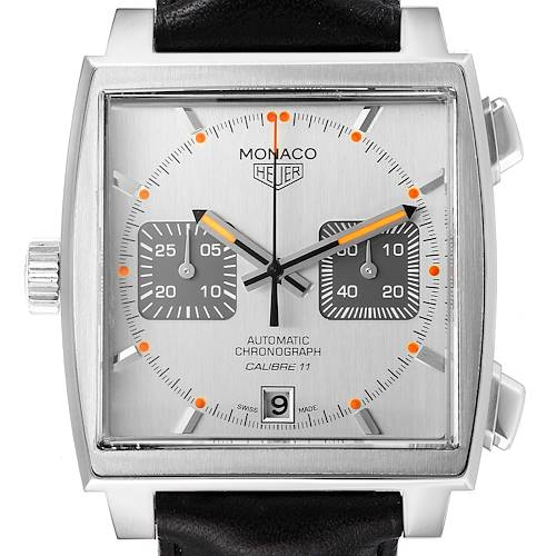 Photo of Tag Heuer Monaco Silver Dial Limited Steel Mens Watch CAW211C
