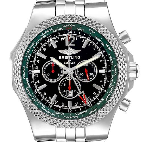 Photo of Breitling Bentley GMT Limited Edition Steel Mens Watch A47362 Box Papers