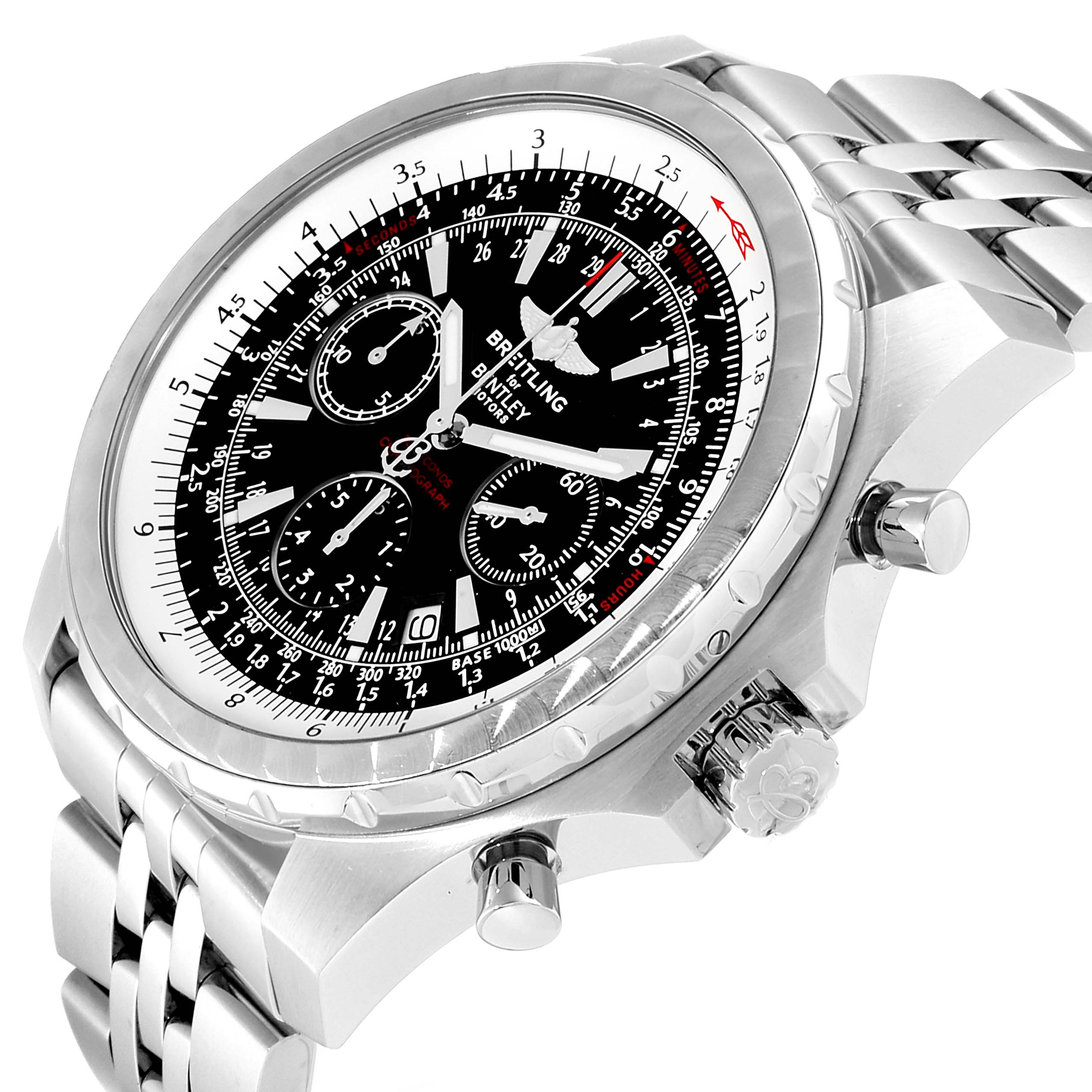 Breitling Bentley Motors T Black Dial Chronograph Watch A25363 Box SwissWatchExpo