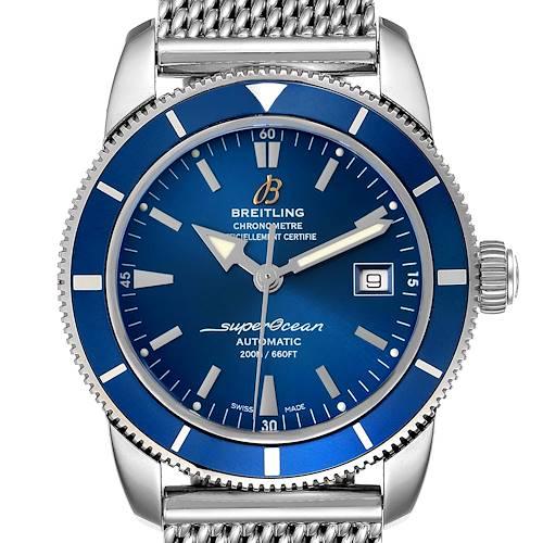 Photo of Breitling Superocean Heritage 42 Blue Dial Mesh Bracelet Mens Watch A17321