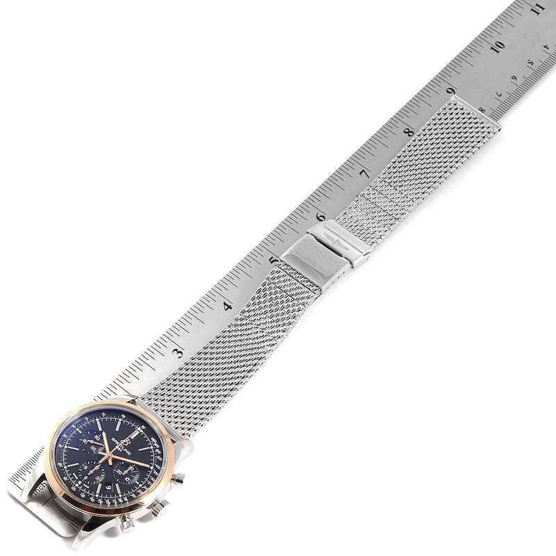 Breitling Transocean Chronograph 43mm Rose Gold Steel Mens Watch UB0152 SwissWatchExpo
