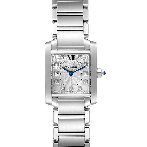 Photo of Cartier Tank Francaise Steel Diamond Small Ladies Watch WE110006