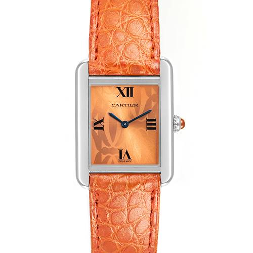 Photo of Cartier Tank Solo Orange Dial Limited Edition Ladies Watch W1019455 Papers