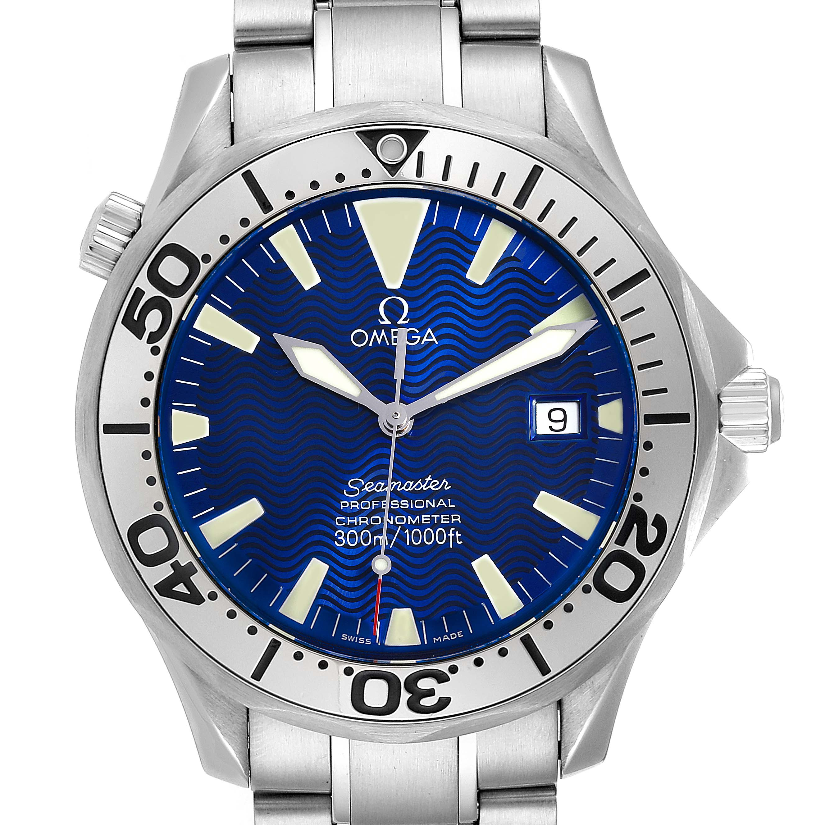 Omega Seamaster 300M Blue Dial Steel Mens Watch 2255.80.00