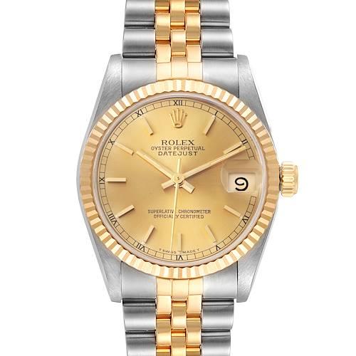 Photo of Rolex Datejust Midsize 31mm Steel Yellow Gold Ladies Watch 68273