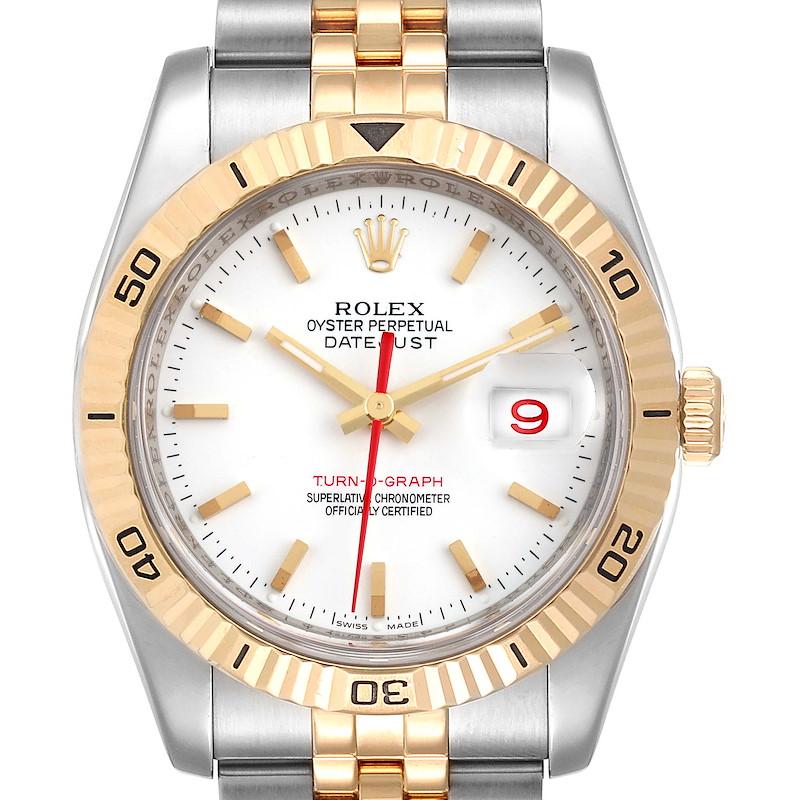 Rolex Datejust Turnograph 36mm Steel Yellow Gold Mens Watch 116263 SwissWatchExpo