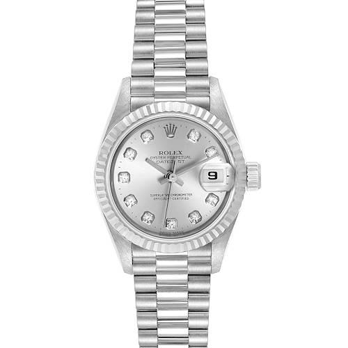 Photo of Rolex President Datejust 26 White Gold Diamond Ladies Watch 69179