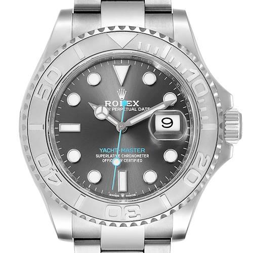 Photo of Rolex Yachtmaster Steel Platinum Rhodium Dial Mens Watch 126622 Unworn