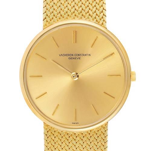 Photo of Vacheron Constantin Patrimony Yellow Gold Vintage Mens Watch 6872
