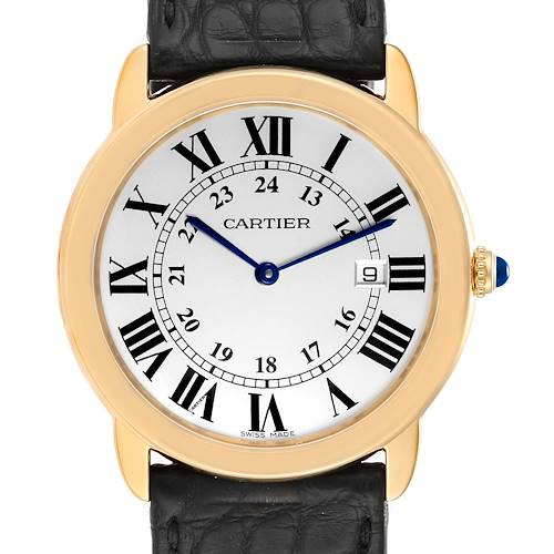 Photo of Cartier Ronde Solo 36mm Large Yellow Gold Steel Unisex Watch W6700455