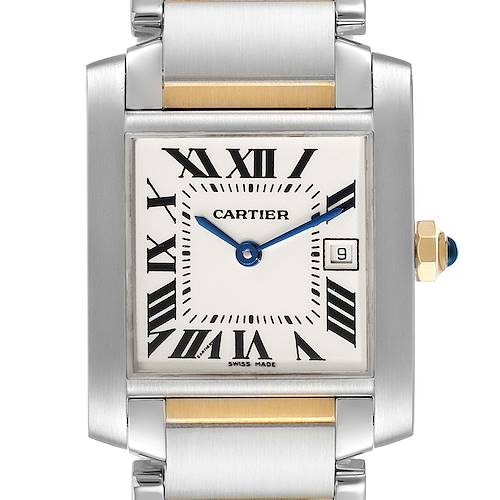Photo of Cartier Tank Francaise Midsize Steel Yellow Gold Ladies Watch W51012Q4