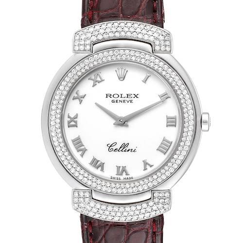 Photo of Rolex Cellini Cellissima 33mm White Gold Diamond Ladies Watch 6683