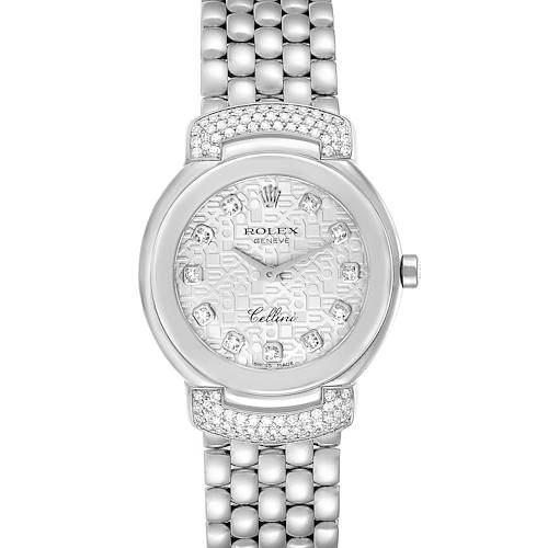 Photo of Rolex Cellini Cellissima White Gold Diamond Ladies Watch 6672 Box Papers